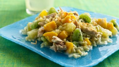 Gluten-Free Tropical Fruit, Rice and Tuna Salad