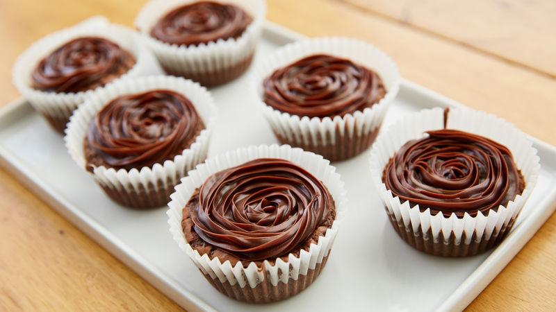 Brownie Cake Mix Cupcakes