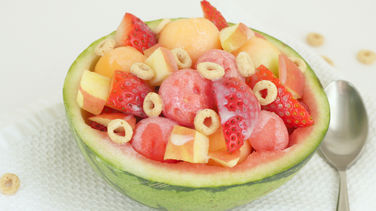 Fruit Salad with Condensed Milk and Cheerios™
