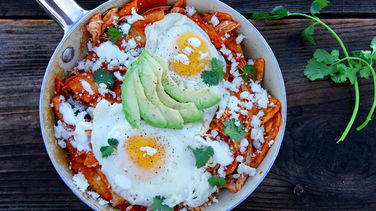 Chicken Chilaquiles with Fried Egg