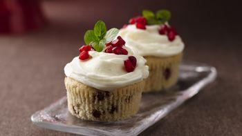 Christmas Pomegranate Cupcakes