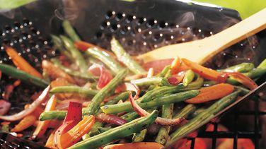 Zanahorias miniatura y Ejotes a la Parrilla o Asados