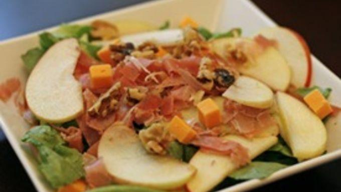 Apple, Prosciutto and Walnut Salad