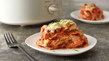 Easy Slow-Cooker Lasagna