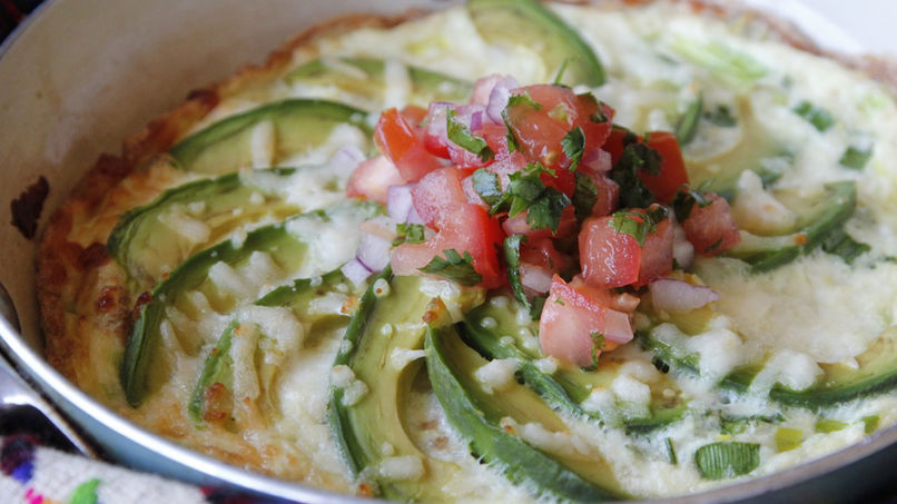 Avocado Frittata with Cotija Cheese and Salsa
