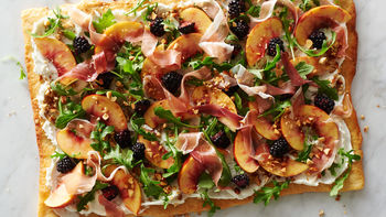 Blackberry, Nectarine and Prosciutto Pizza