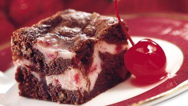 Cherry Swirl Brownies