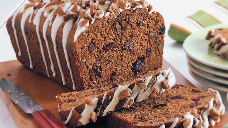 Pumpkin-Cranberry-Pecan Bread