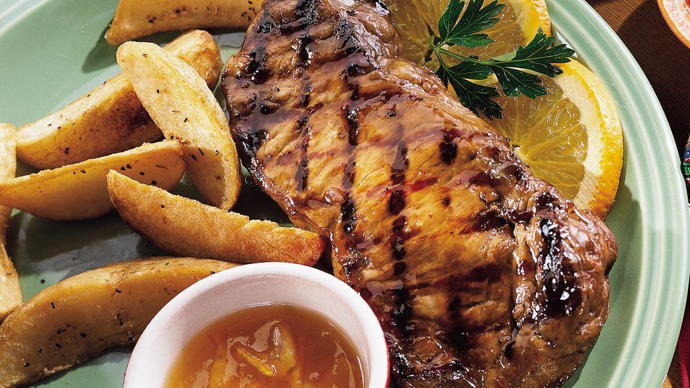 Glazed Peppered Steak