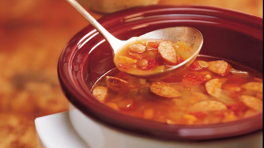 Easy Bean and Kielbasa Soup