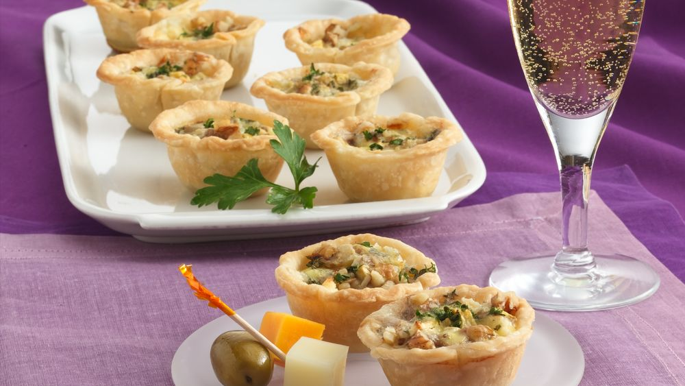Apple, Blue Cheese and Walnut Tartlets