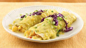 Shrimp Enchiladas with Sweet Corn Sauce