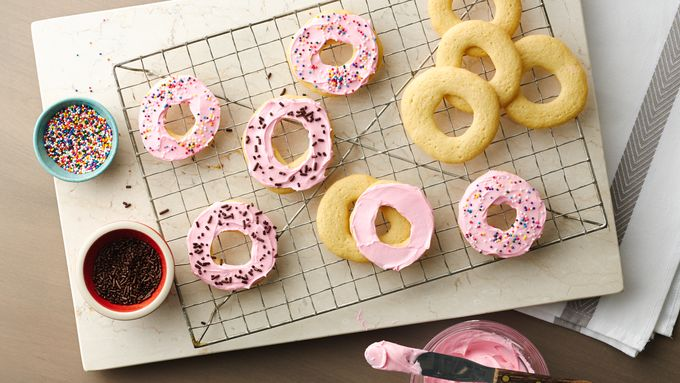 Frosted Doughnut Cookies