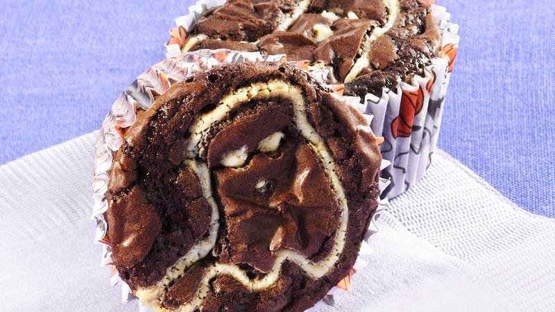 Boo Brownie Cupcakes