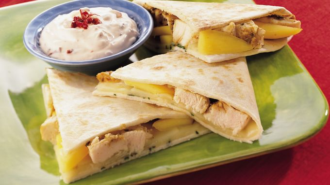 Chicken and Monterey Jack Cheese Quesadillas