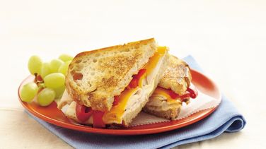 Toasted Turkey and Roasted Pepper Sandwiches