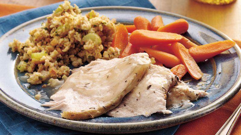 Slow-Cooker Lemon-Thyme Turkey