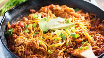 Taco Spaghetti Skillet Dinner