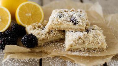 Lemon and Blackberry Crumb Bars