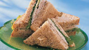 Turkey Cucumber Dill Sandwiches