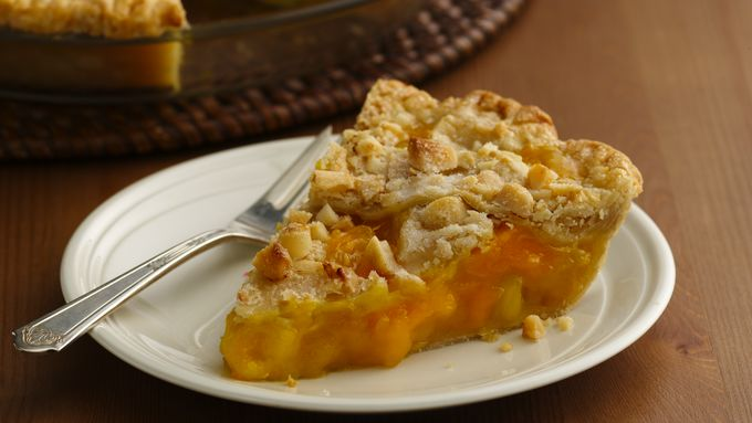 Mango-Pineapple Pie with Macadamia Lattice Crust