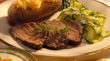 Beef Tenderloin with Garlic and Herbs