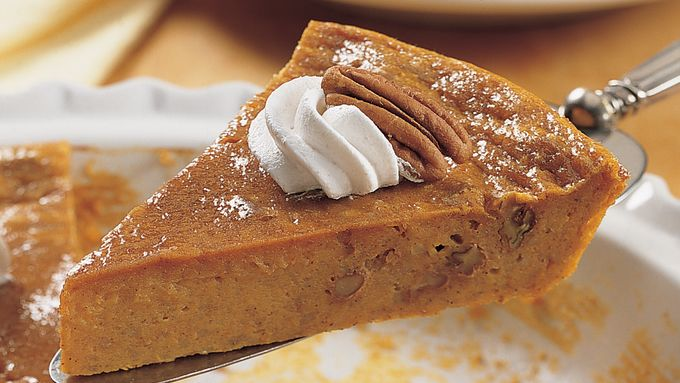 Impossibly Easy Pumpkin-Pecan Pie recipe - from Tablespoon!