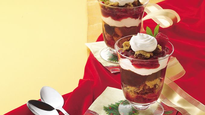 Raspberry-Cookie Parfaits
