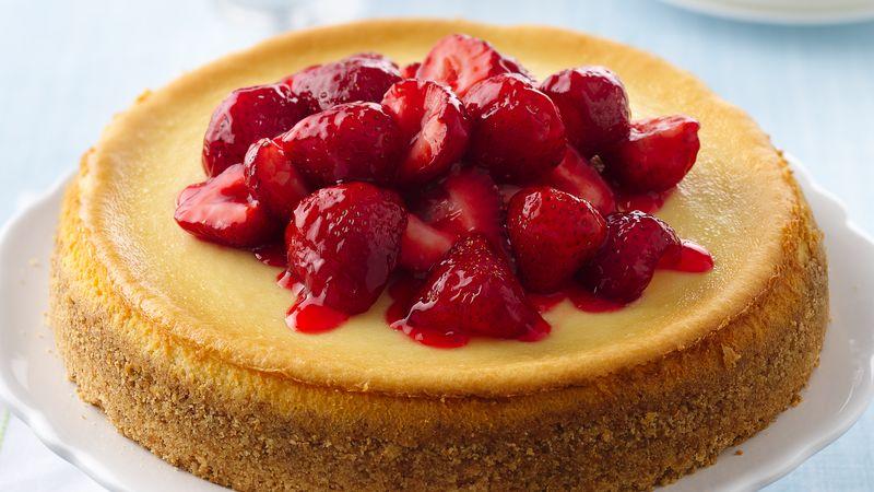 Fresh Strawberry Topped Cheesecake