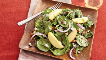 Apple Bacon Spinach Salad