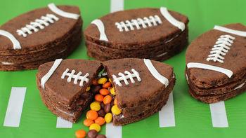 Football Pinata Brownies