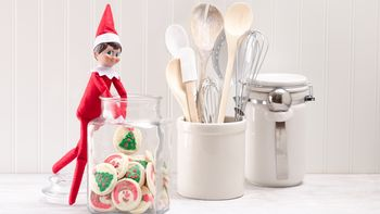 Elf on the Shelf in the Cookie Jar