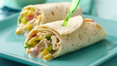 Chicken Fajita Salad Wraps