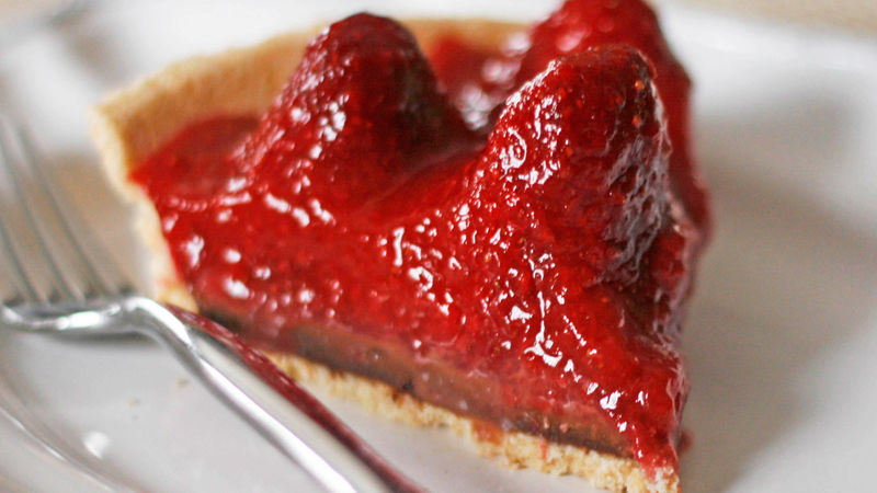 Strawberry Truffle Pie