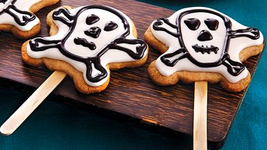 Skull and Crossbones Cookie Pops