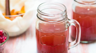 Apple Cider and Pomegranate Punch
