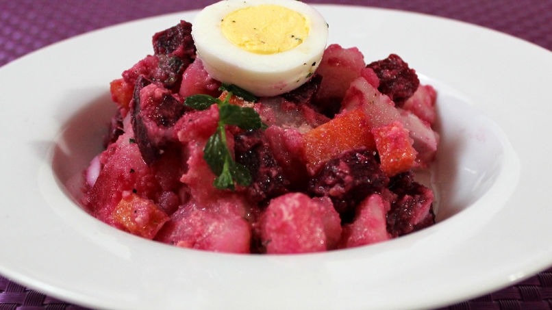 Potato Salad with Beets