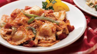 Chicken and Ravioli Cacciatore