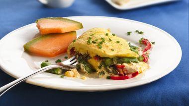 Veggie Cream Cheese Omelets