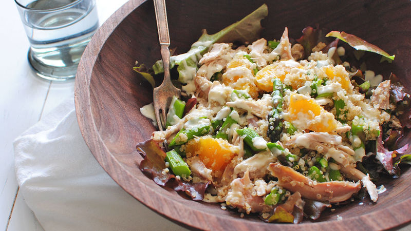 Chicken, Asparagus, Tangerine and Quinoa Salad