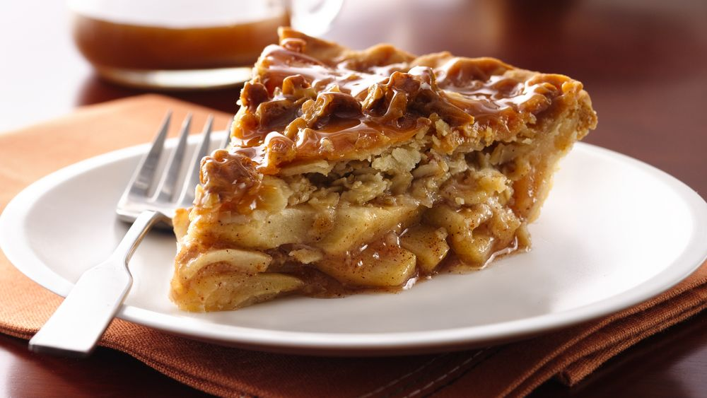 Caramel-Apple Streusel Pie