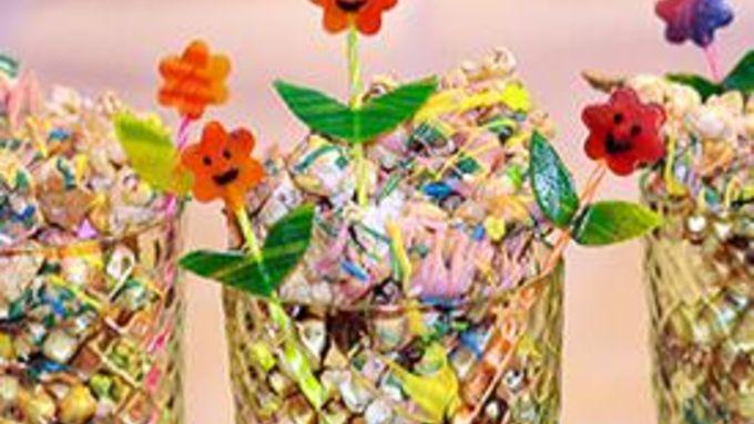 Flower Power Popcorn Snack