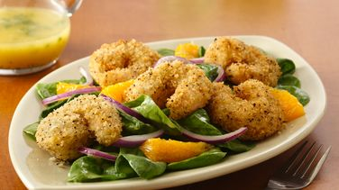 Crispy Seafood Salad with Citrus Vinaigrette
