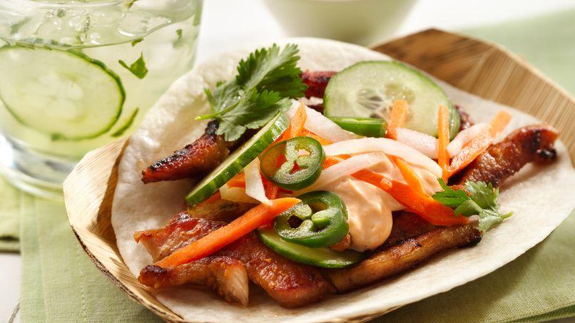 Tacos de Puerco Banh Mi