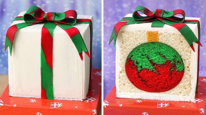 Ornament Reveal Cake