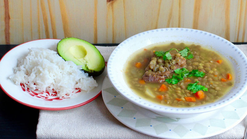 Colombian Lentil Soup