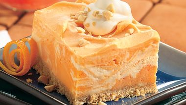 Creamy Frozen Orange Squares