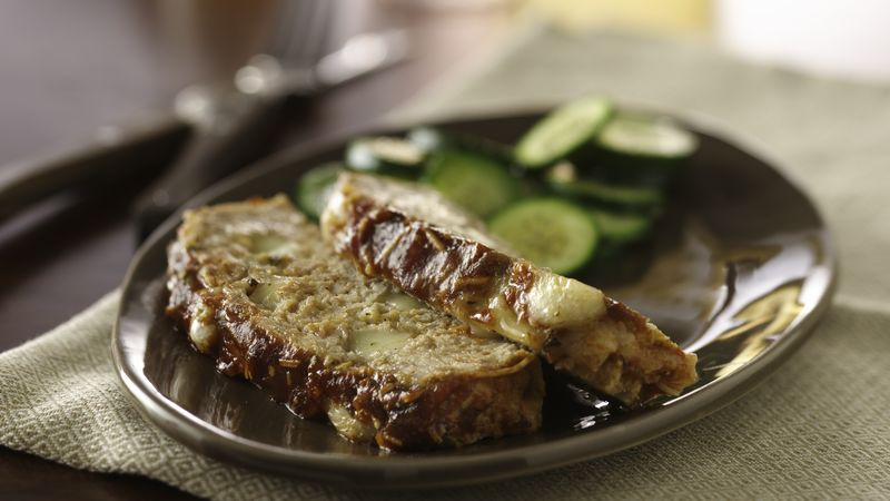 Cheesy Stuffed Meatloaf