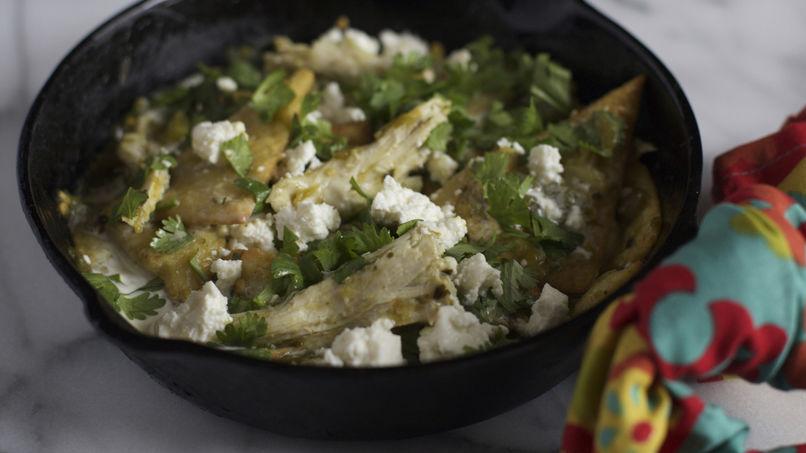 Chilaquiles de Pavo en Salsa Verde