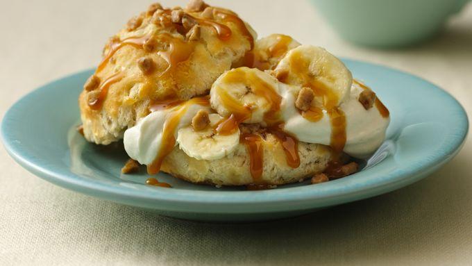 Banana-Cream Toffee Shortcakes